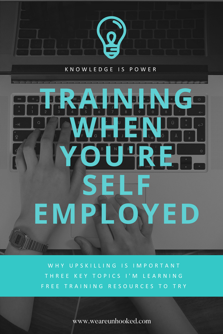 Training when you're self employed is really important,. Unhooked Communications explains what PR, digital and content training it is currently doing and offers advice on free training resources for fellow freelancers and small business owners.