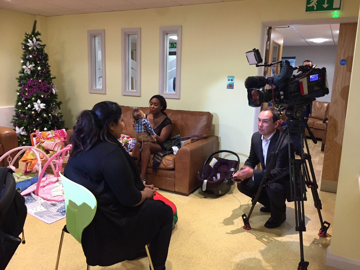 ITV Granada Reports interviews local families at a new children's hospice on the day that HRH Princess Beatrice visits
