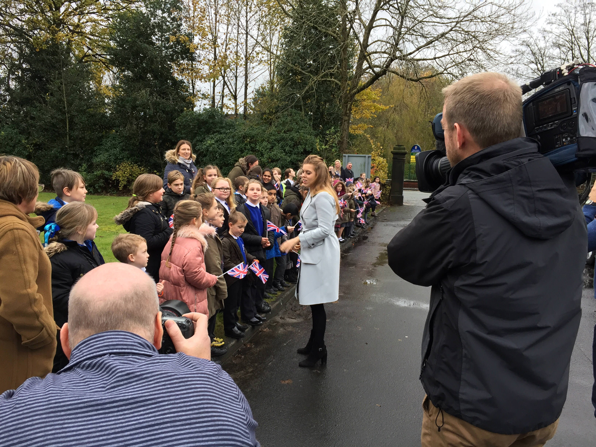 HRH Princess Beatrice visits Forget Me Not's children's hospice in Bury Greater Manchester - a great charity PR opportunity