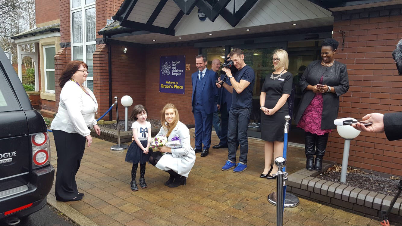 Charity PR case study   HRH Princess Beatrice visits Forget Me Not Children's Hospice in Greater Manchester