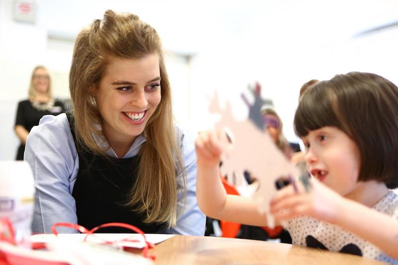 HRH Princess Beatrice spends time with children at Forget Me Not's children's hospice, Grace's Place in Bury (photo credit Mask Creative)
