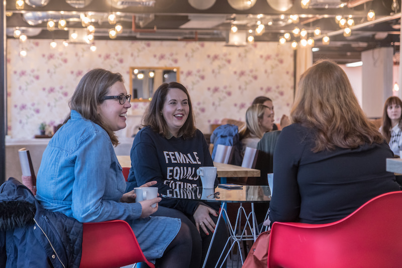 Freelancers and small business owner at International Women's Day event Manchester