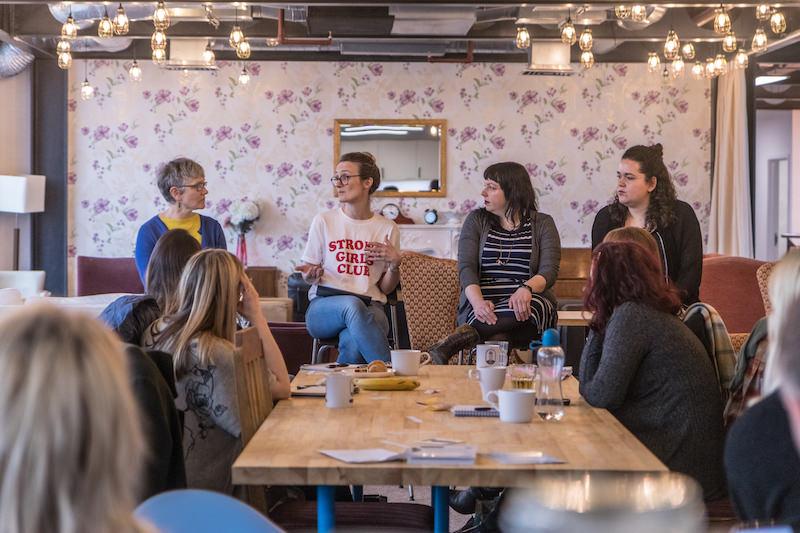International Women's Day, Ziferblat MediaCity, freelance pay gap discussion, Unhooked Communications