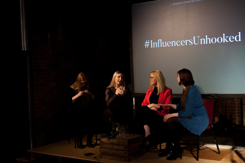 Influencer marketing event Manchester with bloggers and content creators Kate Baxter, Holly Wood, Fiona Newsam, Katie Portman