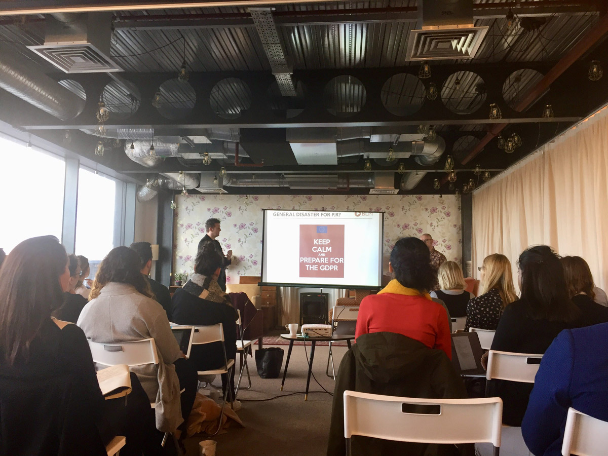 GDPR for PR and marketing professionals event from Unhooked Communications Manchester PR and content agency