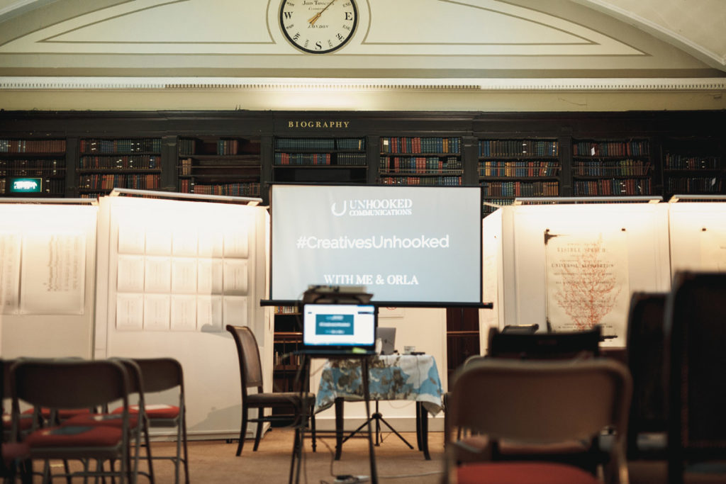Creatives Unhooked PR, marketing and social media event in Manchester at the Portico Library