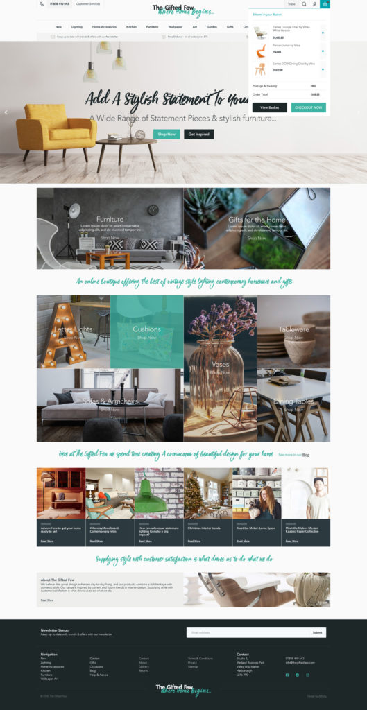 Influencer marketing and online PR for interiors and homeware ecommerce business | Unhooked Communications and The Gifted Few
