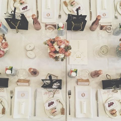 Make your event Instagrammable by paying attention to the details - flowers and placecards - Unhooked Communications, Public Relations in Manchester