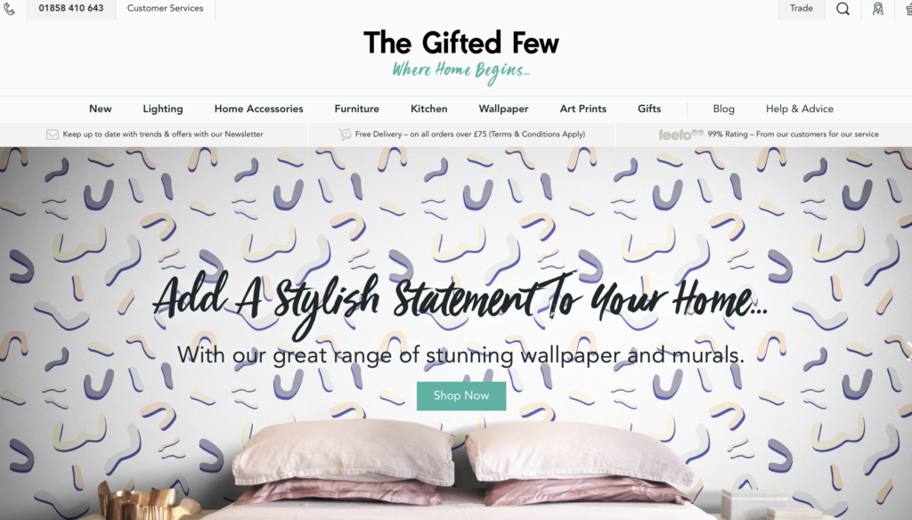 Specialist home interiors PR agency Unhooked Communications works with The Gifted Few online interior retailer