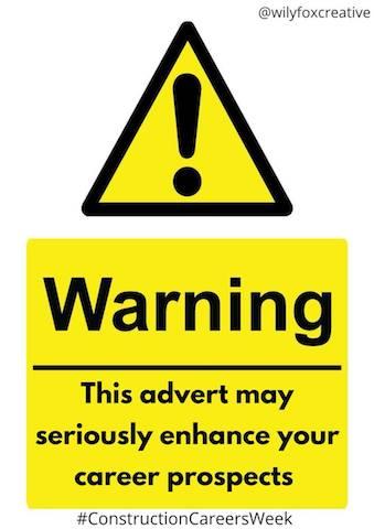 BESS Contruction Careers Week   One Minute Briefs   Warning, Wily Fox Creative @wilyfoxcreative