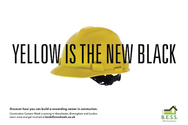 Construction Careers Week, One Minute Brief winner: Yellow is the new black, David Felton, @doritosyndrome