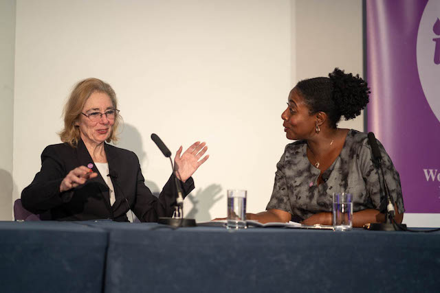 Barbara Res with host Marverine Cole at Inspire Summit: Women in UK Construction, Engineering & Housing
