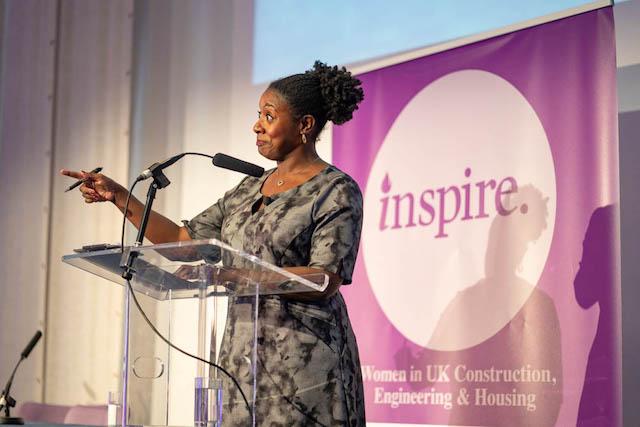 Host Marverine Cole at Inspire Summit