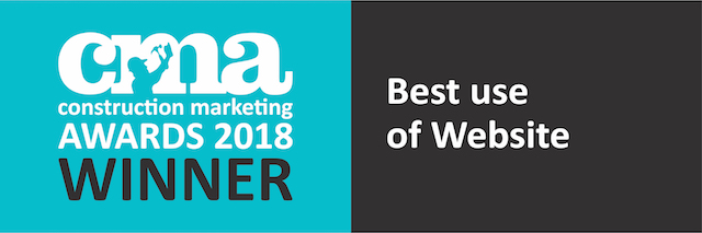 Construction Marketing Awards 2018 Winner of Best Use of Website logo