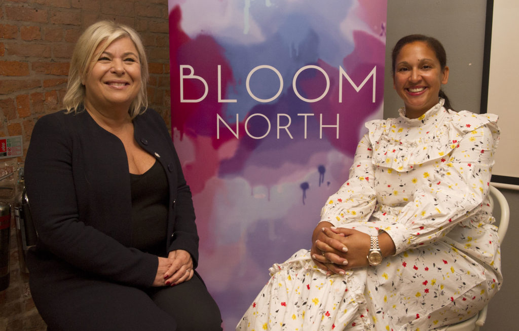Bloom North president Danielle Sewell, regional director at Hearst, and vice-president Michelle Vint, co-founder of Regital