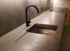 Home interiors design PR agency - concrete furniture and kitchen manufacturer